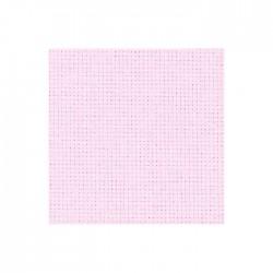 Toile Aïda Zweigart 5,4fils/cm - largeur 110cm - rose pâle