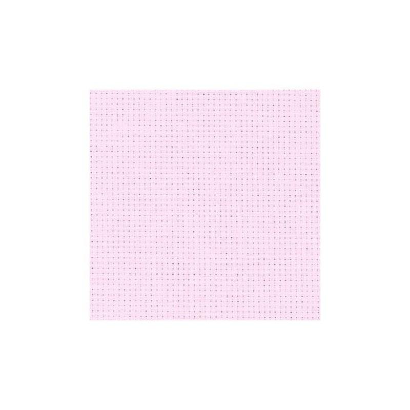 Aïda Zweigart 5,4pts/cm - largeur 110cm - rose pâle