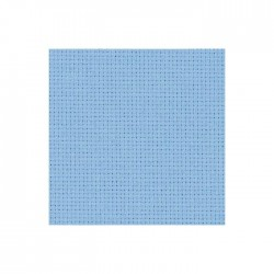 Toile Aïda Zweigart 5,4fils/cm - largeur 110cm - bleu