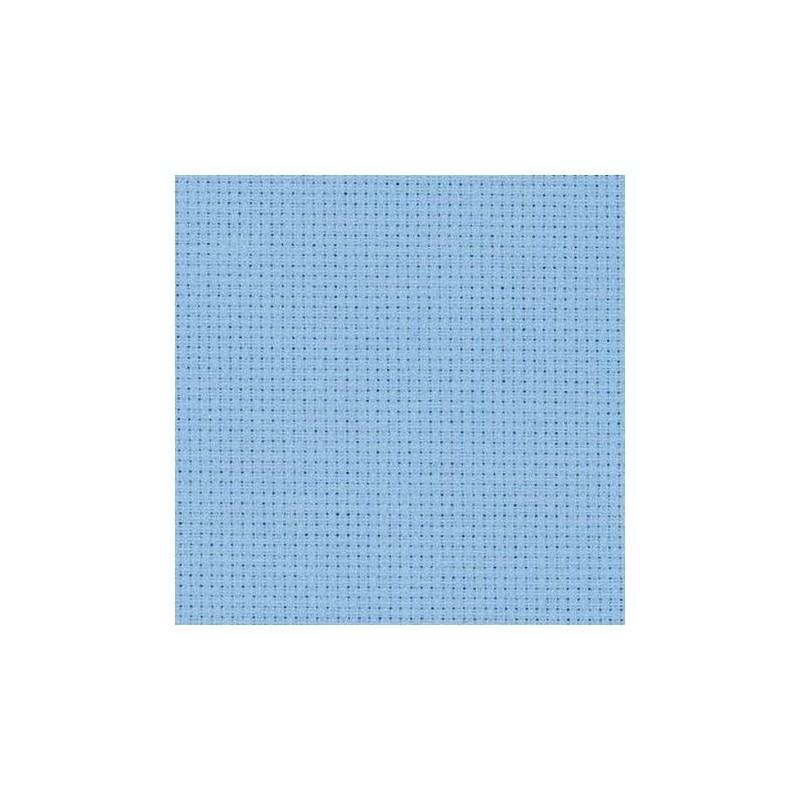 Aïda Zweigart 5,4pts/cm - largeur 110cm - bleu