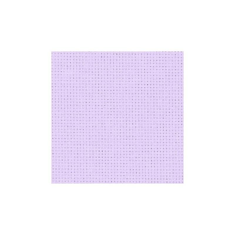 Aïda Zweigart 5,4pts/cm - largeur 110cm - lilas pâle
