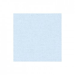 Aïda Zweigart 5,4pts/cm - largeur 110cm - bleu ciel