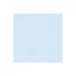 Toile Aïda Zweigart 5,4fils/cm - largeur 110cm - bleu ciel