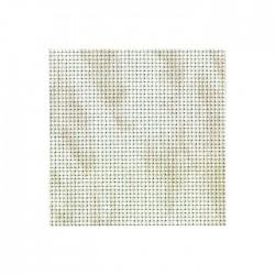 Toile Aïda Zweigart 5,4fils/cm - largeur 110cm - blanc marbré beige