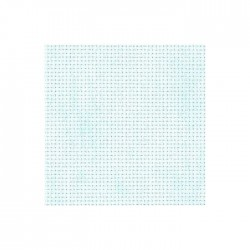 Toile Aïda Zweigart 5,4fils/cm - largeur 110cm - bleu ciel marbré