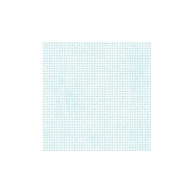 Aïda Zweigart 5,4pts/cm - largeur 110cm - bleu ciel marbré
