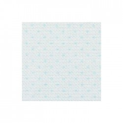 Aïda Zweigart 5,4pts/cm - largeur 110cm - blanc à pois bleus