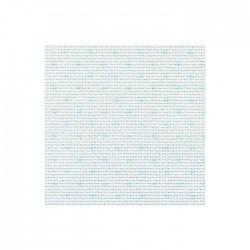 Toile Aïda Zweigart 5,4fils/cm - largeur 110cm - blanc à pois bleus