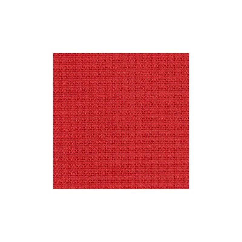 Aïda Zweigart 5,4pts/cm - 35x45cm - rouge