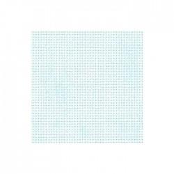 Aïda Zweigart 5,4pts/cm - 35x45cm - bleu ciel marbré