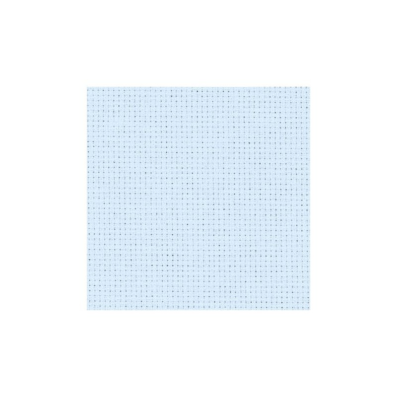 Aïda Zweigart 5,4pts/cm - 50x55cm - bleu ciel