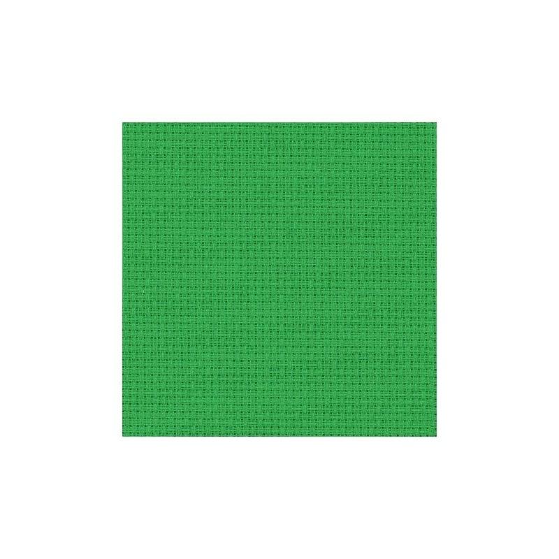 Aïda Zweigart 5,4pts/cm - 50x55cm - vert noël