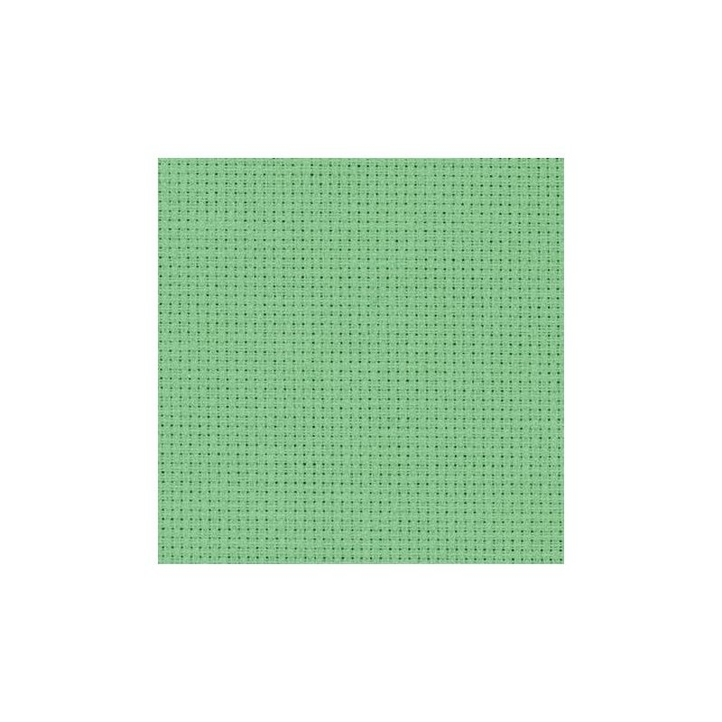 Aïda Zweigart 5,4pts/cm - 50x55cm - vert amande