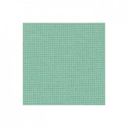 Toile Aïda Zweigart 5,4fils/cm - largeur 110cm - gris vert clair
