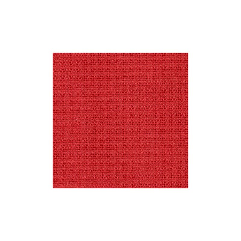 Aïda Zweigart 5,4pts/cm - 50x55cm - rouge