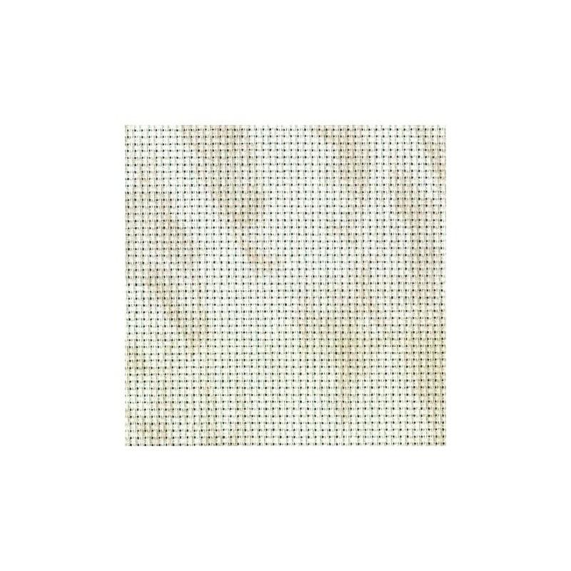 Aïda Zweigart 5,4pts/cm - 50x55cm - blanc marbré beige