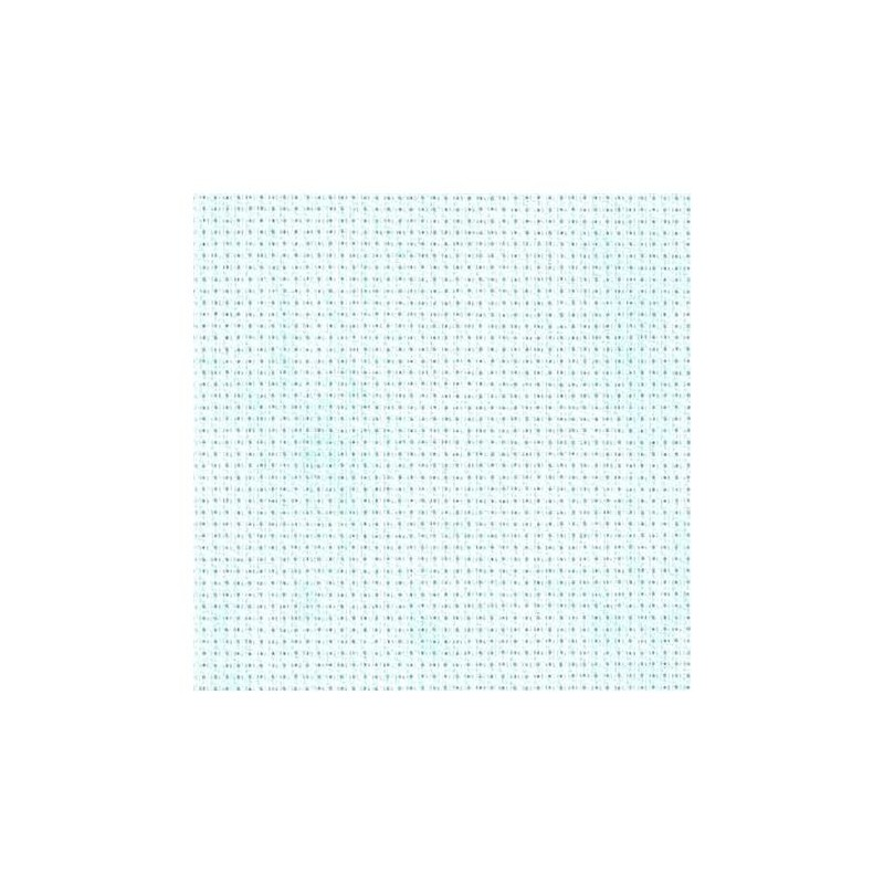 Aïda Zweigart 5,4pts/cm - 50x55cm - bleu ciel marbré