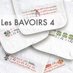 Les bavoirs 4 - Lilipoints - semi-kit diagramme+bavoir