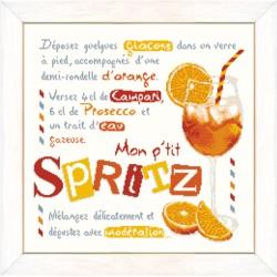 Le Spritz - Lilipoints - Semi-kit diagramme+toile
