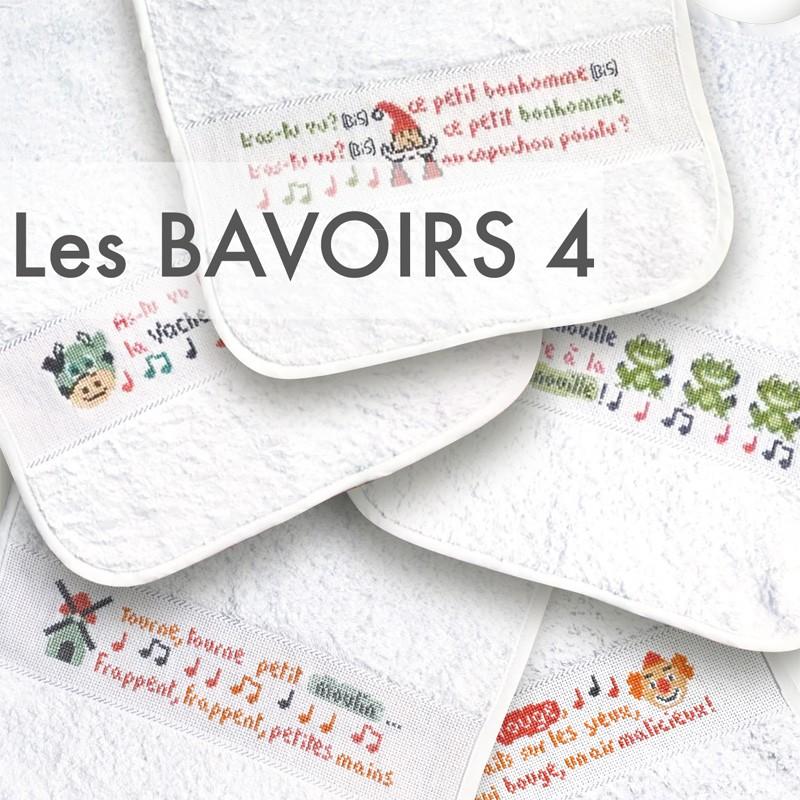 Les bavoirs 4 - Lilipoints - pack complet