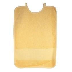 Bavoir à broder jaune