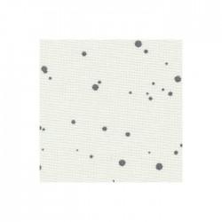 Toile Murano Zweigart 12,6fils/cm - largeur 140cm - blanc à taches gris anthracite