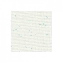 Toile Murano Zweigart 12,6fils/cm - laize 140 cm - blanc à tâches bleues