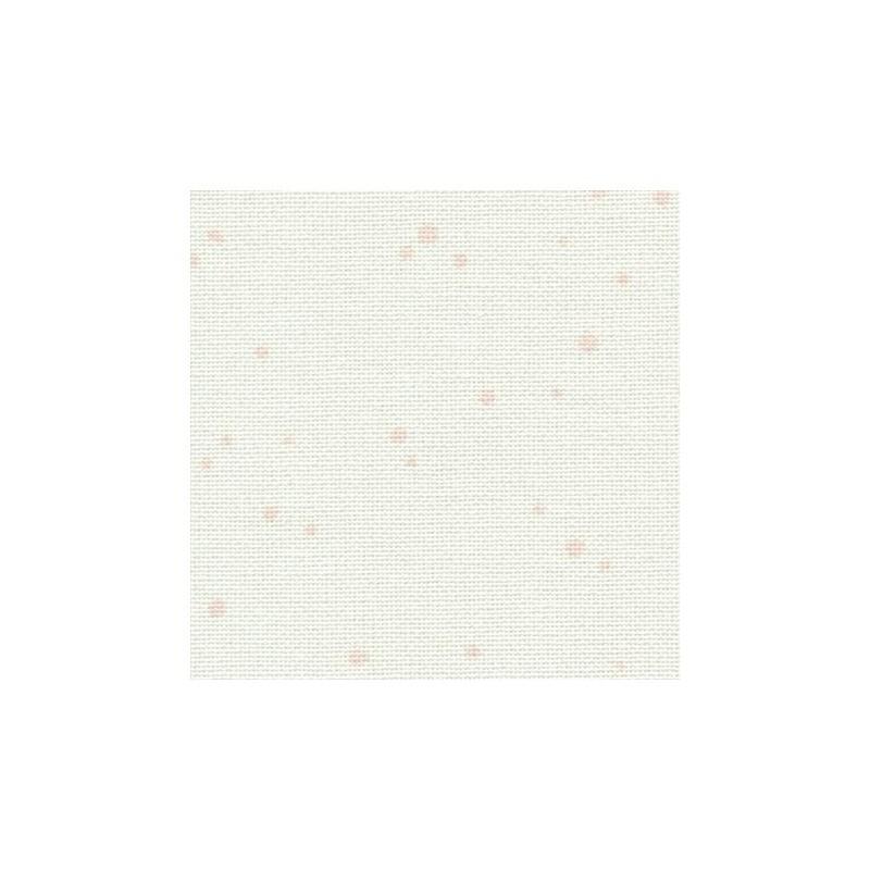 Toile Murano Zweigart 12,6fils/cm - largeur 140cm - blanc à taches roses