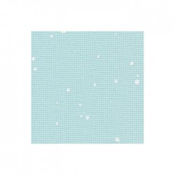 Toile Murano Zweigart 12,6fils/cm - laize 140 cm - bleu à tâches blanches