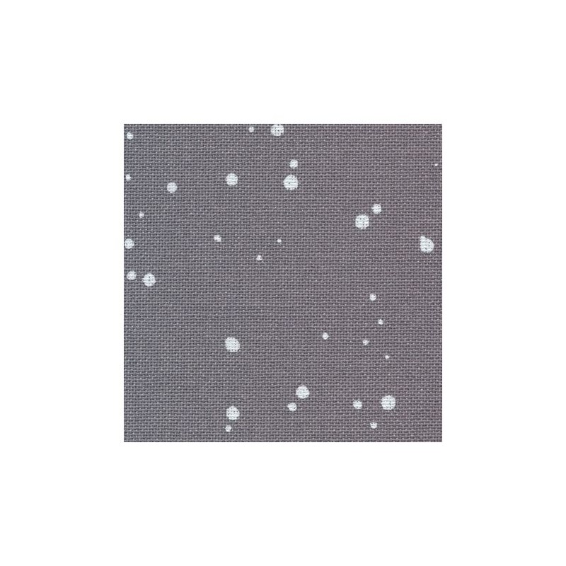 Toile Murano Zweigart 12,6fils/cm - largeur 140cm - gris anthracite à taches blanches