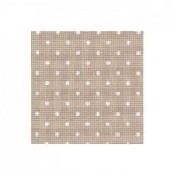 Toile Murano Zweigart 12,6fils/cm - laize 140 cm - beige à petits points blancs