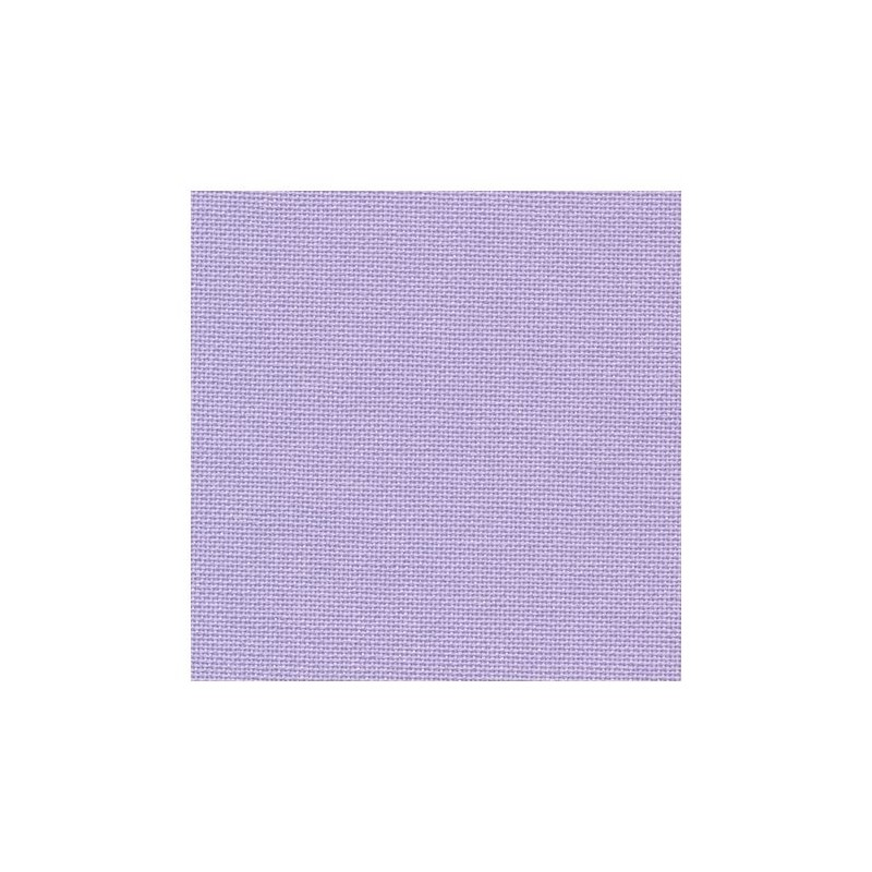 Toile Murano Zweigart 12,6fils/cm - largeur 140cm - lavande