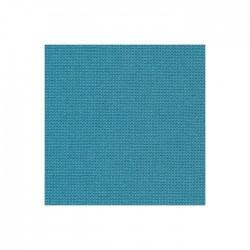 Toile Murano Zweigart 12,6fils/cm - largeur 140cm - bleu canard