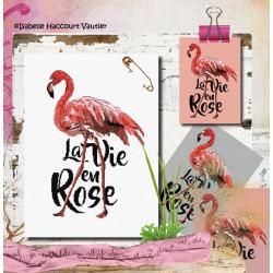 Flamingo rose - Isabelle Haccourt Vautier