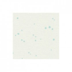 Toile Murano Zweigart 12,6fils/cm 35x45cm - blanc à taches bleues