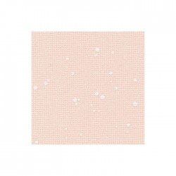 Toile Murano Zweigart 12,6fils/cm 50x70cm - rose à taches blanches