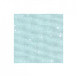 Toile Murano Zweigart 12,6fils/cm 50x70cm - bleu à taches blanches