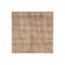 Lugana Zweigart 10 fils/cm - laize 140cm - sable marbré