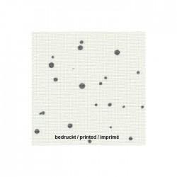Lugana Zweigart 10 fils/cm - laize 140cm - blanc à taches gris anthracite