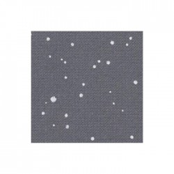Lugana Zweigart 10 fils/cm - laize 140cm - gris anthracite à taches blanches