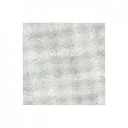 Lugana Zweigart 10 fils/cm - laize 140cm - blanc pailleté argenté