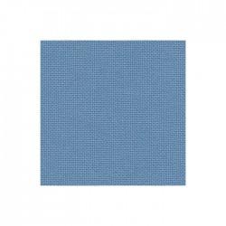Lugana Zweigart 10 fils/cm - laize 140cm - bleu denim clair