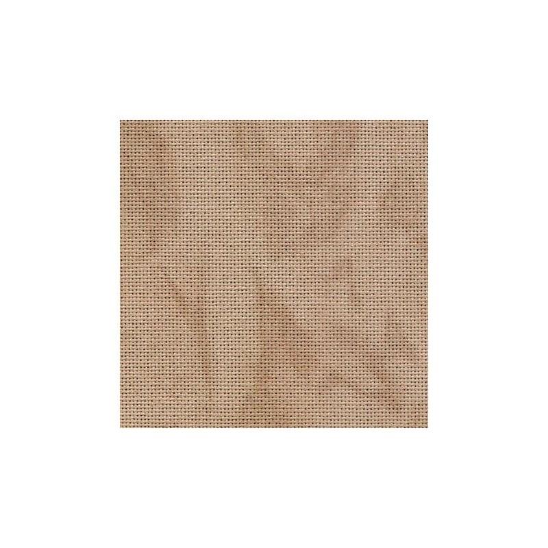 Toile Lugana Zweigart 10fils/cm - 35x45cm - sable marbré