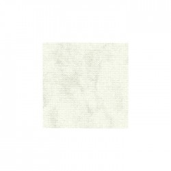 Toile Lugana Zweigart 10fils/cm - 35x45cm - blanc marbré gris