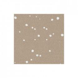 Toile Lugana Zweigart 10fils/cm - 35x45cm - lin à taches blanches