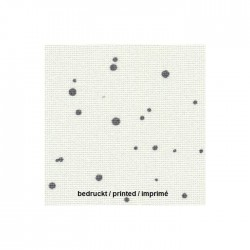 Toile Lugana Zweigart 10fils/cm - 35x45cm - blanc à taches gris anthracite