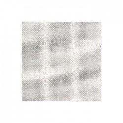 Toile Lugana Zweigart 10fils/cm - 35x45cm - gris blanchi