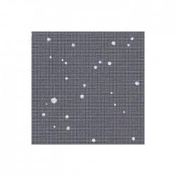 Toile Lugana Zweigart 10fils/cm - 50x70cm - gris anthracite à taches blanches