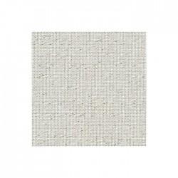 Toile Lugana Zweigart 10fils/cm - 50x70cm - blanc pailleté doré