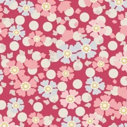 Windflower Red - coupon 50x55cm - tissu Tilda